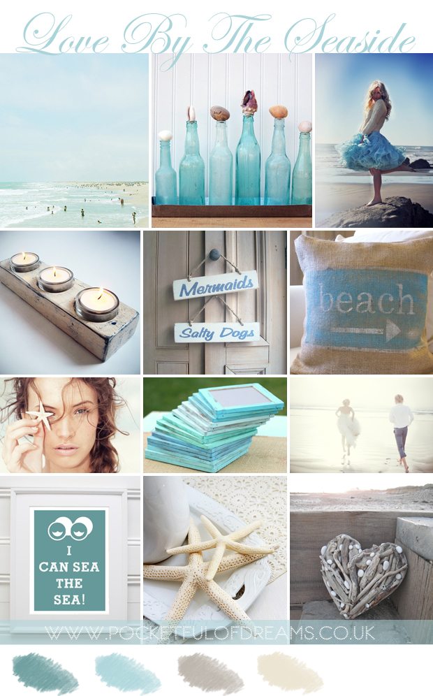 Love by the seaside, Coastal, Beach, Wedding, Inspiration, Mood Board