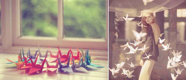 Paper Cranes, Wedding Decor, Hanging Decor (3)