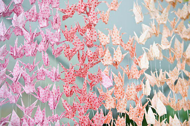 Paper Cranes, Wedding Decor, Hanging Decor (5)