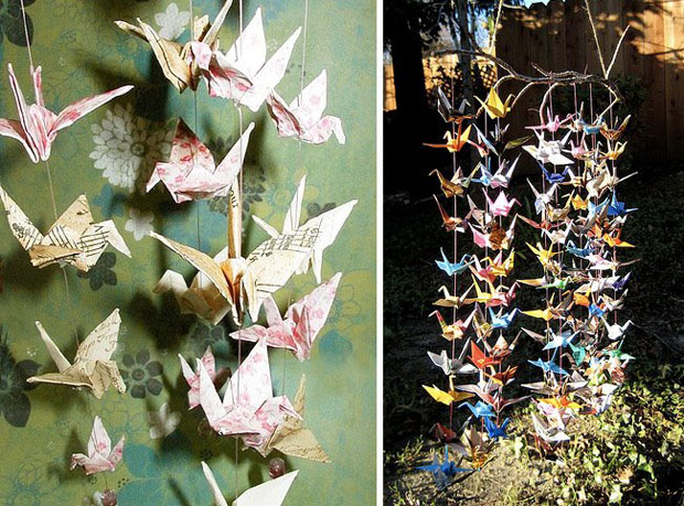 Paper Cranes, Wedding Decor, Hanging Decor (4)