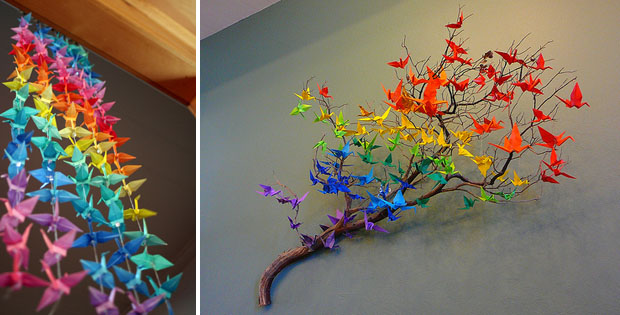 Paper Cranes, Wedding Decor, Hanging Decor (2)