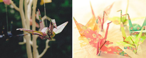 Paper Cranes, Wedding Decor, Hanging Decor (1)