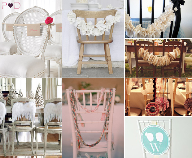 Chair Garlands, Wedding Chair Decor, Garlands, Bunting, Signs