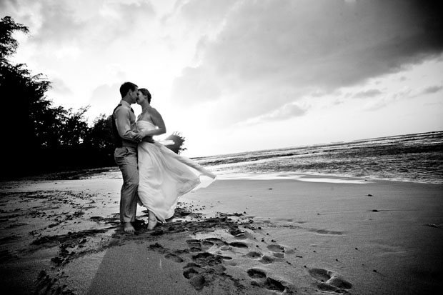 Real Wedding Wedding Photography Hawaii Wedding Bride and Groom
