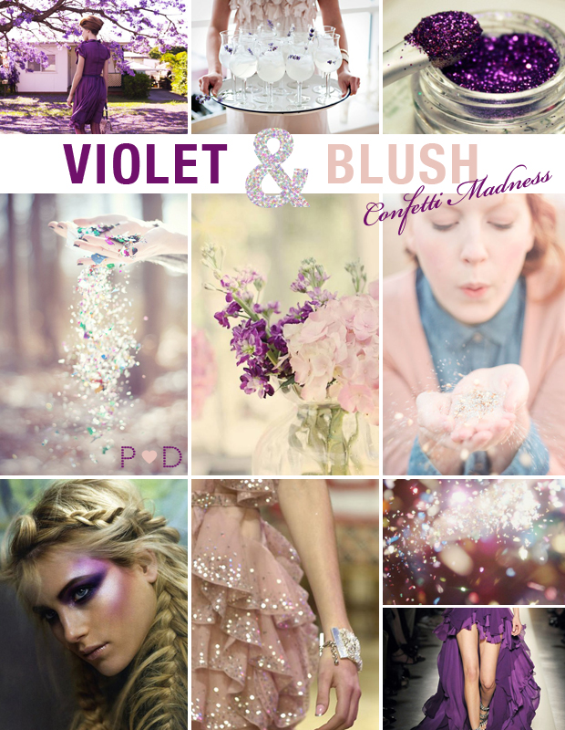 Violet Blush Inspiration Board Mood Board Wedding Party Style