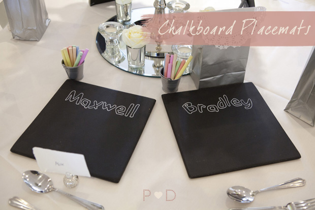 Chalkboard Placemats, DIY, Do it Yourself, Wedding Ideas, Decor, Kids Entertainment, Free Stuff, Tutorial