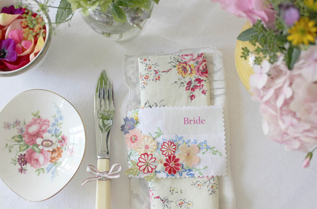 Pocketful of Dreams, Wedding Blog, Blogger, Michelle Kelly,Vintage Inspired, Shabby Chic, Wedding, Country Garden, Tea Party, Haberdashery, Stationery, Floral, Fabric, Pretty, Retro table linen (7)