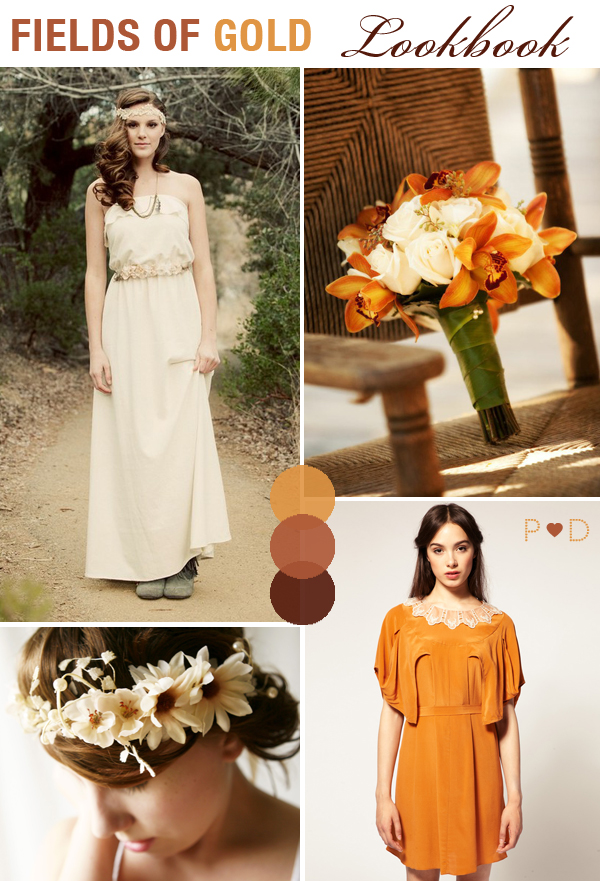 Fields of Gold Autumn Wedding Rustic Wedding Browns Rust Colours Orange