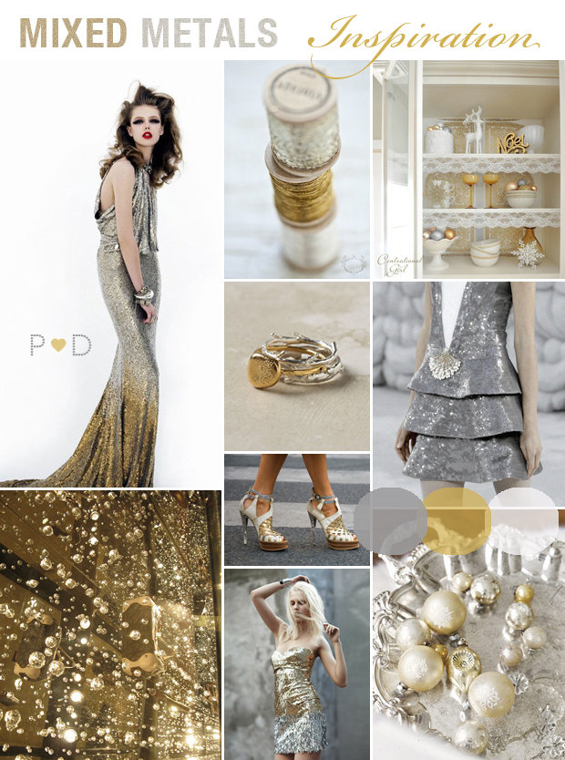 gold silver wedding gold wedding bridal inspiration mixed metals