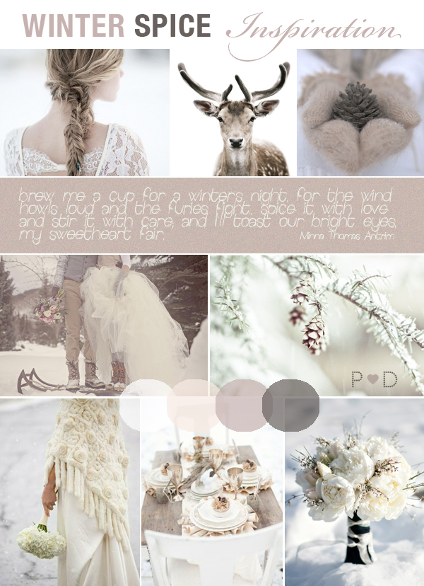 Image Credit winter wonderland wedding via Pocketful of Dreams