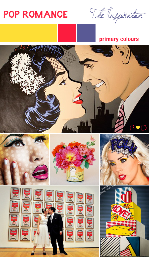 Pop Art, Pop Art Wedding, Pop Art Inspiration, Bridal Inspiration Board, Mood Board, Wedding Styling, Event Design (1)