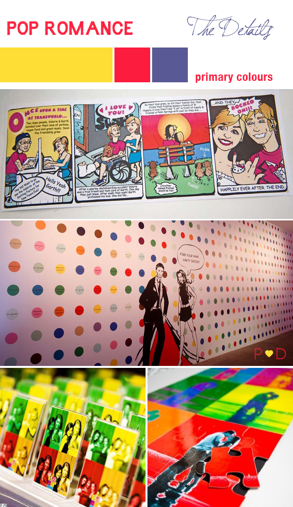 Pop Art, Pop Art Wedding, Pop Art Inspiration, Bridal Inspiration Board, Mood Board, Wedding Styling, Event Design (2)