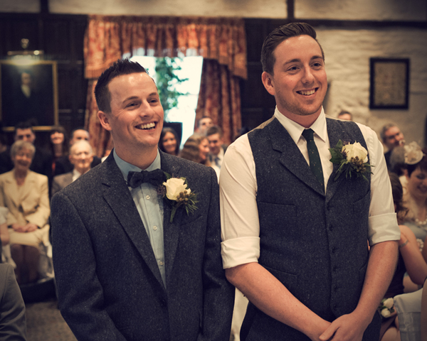 Civil partnership, two grooms, Alex Knight, Holdsworth House Hotel, Yorkshire wedding, gay wedding, country theme, vintage theme, wedding inspiration (10)
