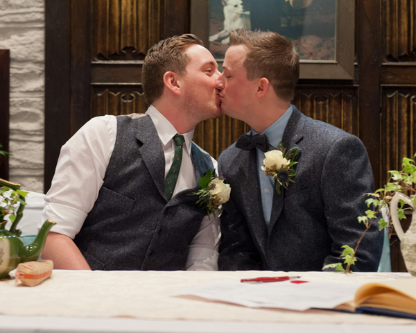 Civil partnership, two grooms, Alex Knight, Holdsworth House Hotel, Yorkshire wedding, gay wedding, country theme, vintage theme, wedding inspiration (11)
