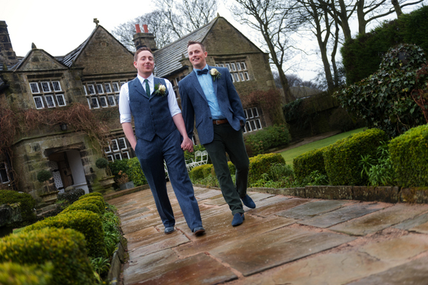 Civil partnership, two grooms, Alex Knight, Holdsworth House Hotel, Yorkshire wedding, gay wedding, country theme, vintage theme, wedding inspiration (13)