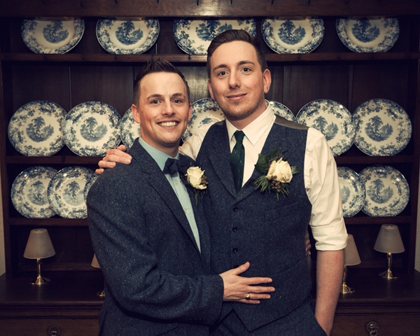 Civil partnership, two grooms, Alex Knight, Holdsworth House Hotel, Yorkshire wedding, gay wedding, country theme, vintage theme, wedding inspiration (15)