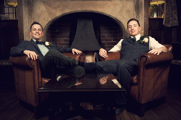 Civil partnership, two grooms, Alex Knight, Holdsworth House Hotel, Yorkshire wedding, gay wedding, country theme, vintage theme, wedding inspiration (16)
