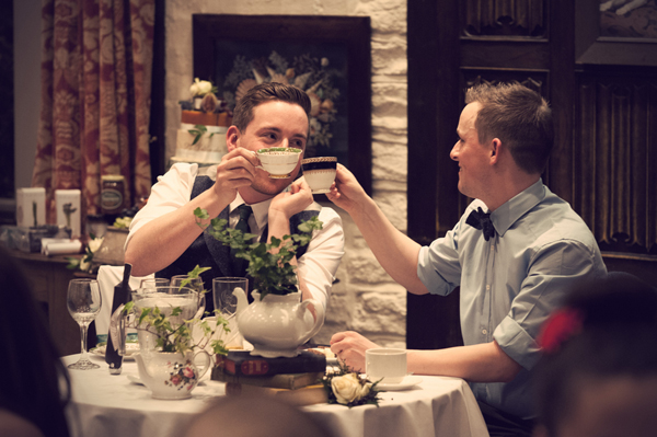 Civil partnership, two grooms, Alex Knight, Holdsworth House Hotel, Yorkshire wedding, gay wedding, country theme, vintage theme, wedding inspiration (24)