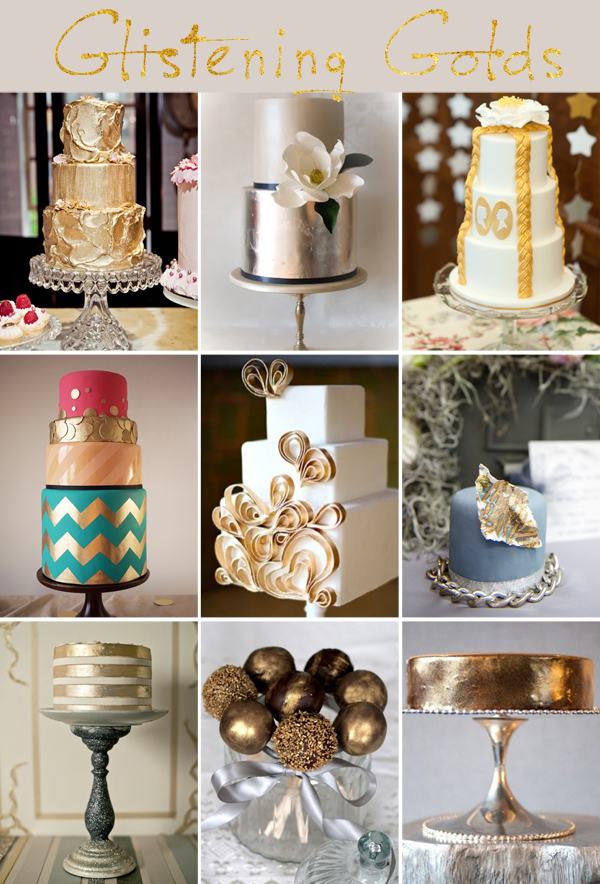 Wedding Trend, Wedding Trend 2012, Metallic Cakes, Metallic Wedding Cakes, Wedding Cakes, Wedding Cake Design, Wedding Styling, Event Design, Trends, Inspiration (2)
