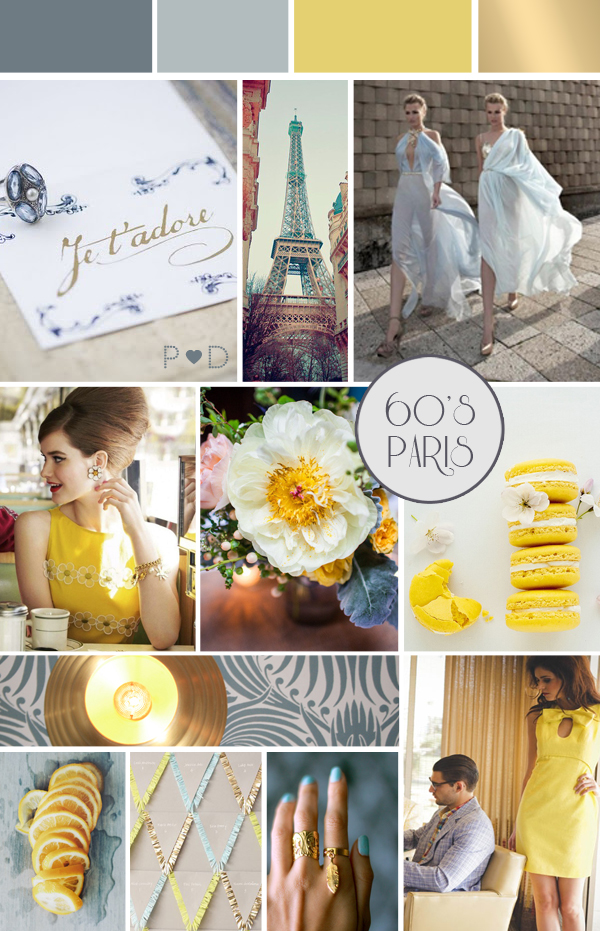 Sixties-Paris,  Bridal Inspiration Board, colour inspiration, Event Design, Event Planning and Design, Event Styling, Inspiration Board, mood board, PArty Mood Board, Pocketful of Dreams, wedding ideas, Wedding Inspiration, wedding mood board, Wedding Styling