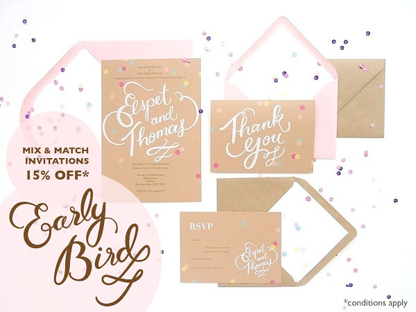 wedding stationery, stationery, hand illustrated stationery, early bird offer, stationery offer, BerinMade stationery (3)