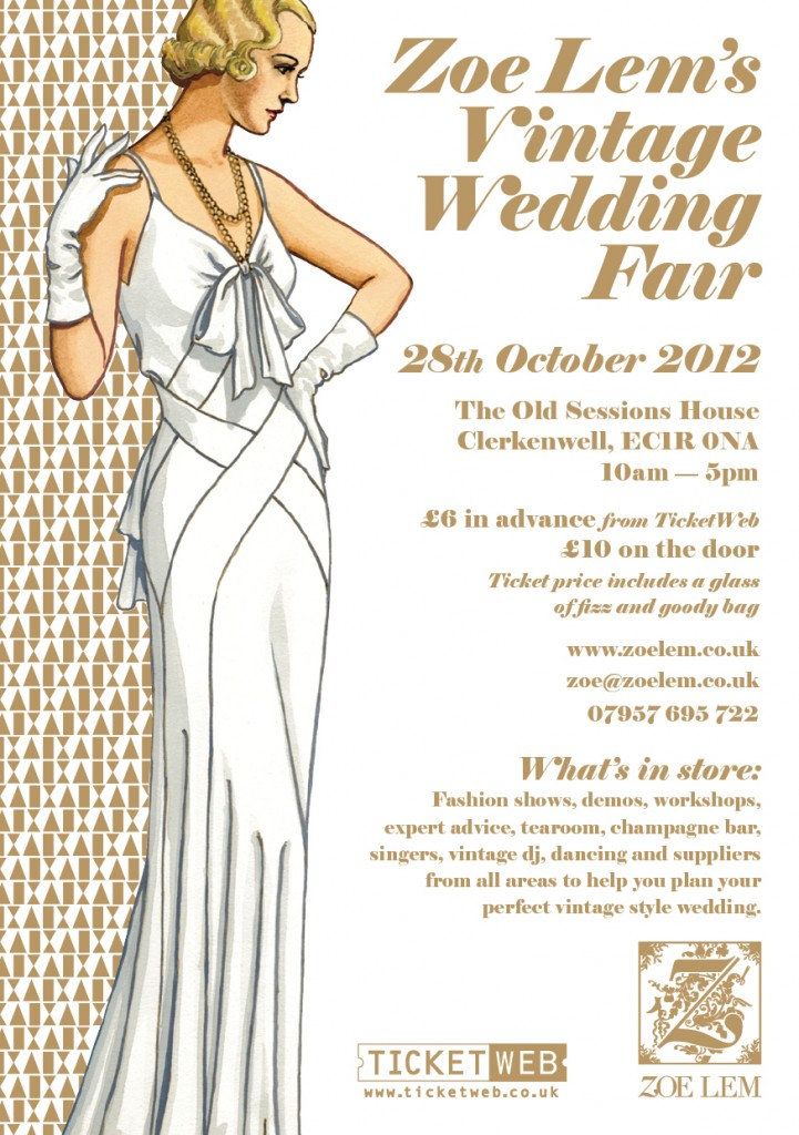 wedding, wedding planning, wedding fair, vintage wedding fair, vintage inspired wedding, vintage bridal fashion, Zoe Lem, Zoe Lem's Vintage Wedding Fair