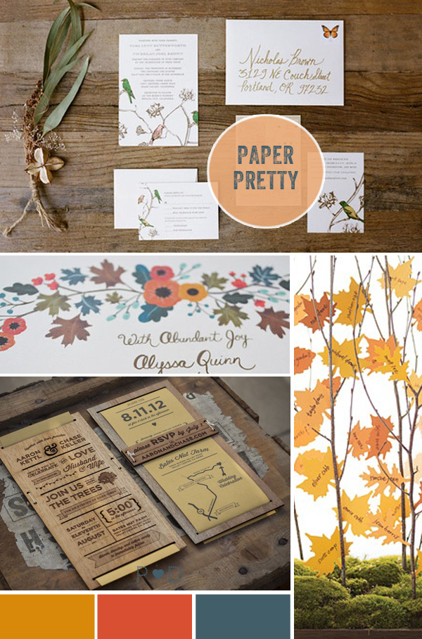 autumn, autumnal, organic, shop the style, natural, nature, rustic, mood boards, fall, falling for autumn, party mood board, decor and styling, wedding design, party design, wedding inspiration, wedding ideas, seasonal, rust, orange, blue, tablescapes, decor, place settings, paper, stationery (2)