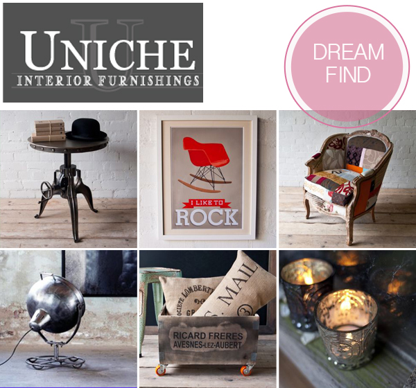 dream find, interiors, interior design, decor, home decor, interior decor, shabby chic, homeware, home accessories, handmade, furniture, vintage industrial furniture, lighting, Uniche Interior Furnishings