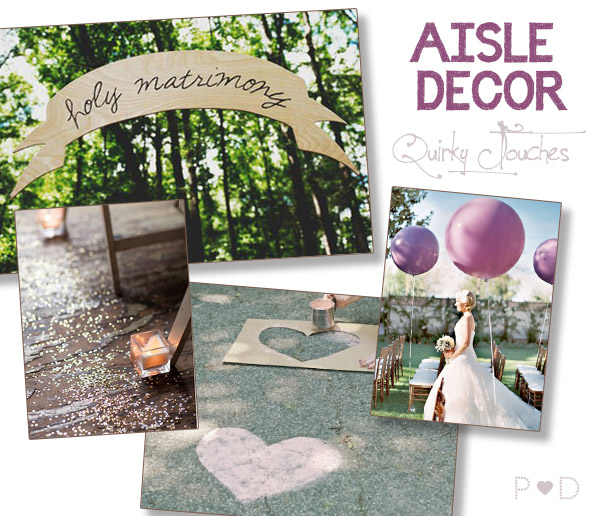 aisle decor, aisle styling, style the aisle, ceremony decor, aisle styling, paper aisle decor, alternative aisle decor, quirky aisle decor (4)