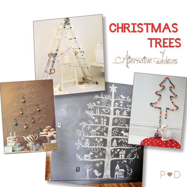 christmas, christmas tree, quirky christmas, eclectic christmas, alternative christmas tree ideas, fabric christmas tree, hand drawn christmas tree