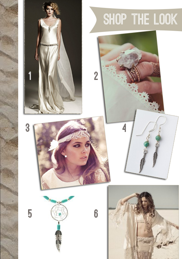 global nomad, bohemian luxe, bridal look, look book, bohemian bridal, gypset, bridal look book, global nomad styling guide. Johanna Johnson, Spell and the Gypsy Collective, dream catchers (1)