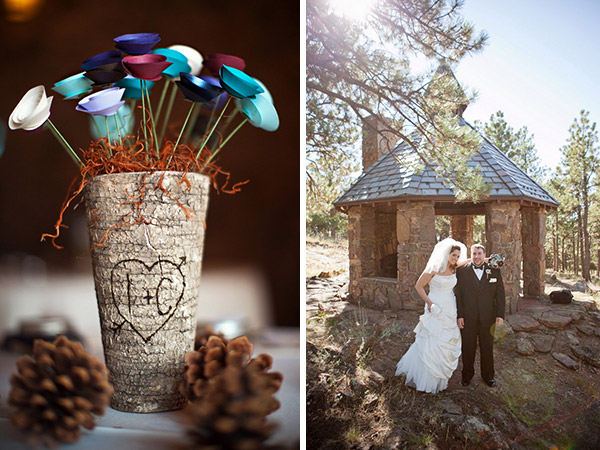 real wedding, wedding photography, rustic wedding, country chic, pine cones, outdoor ceremony, first look, private first dance, autumn wedding, jewel tones, autumnal colours, Root Photography (16)