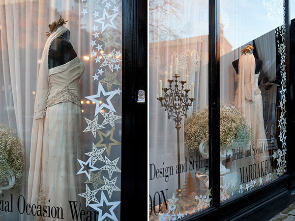 festive decadence, christmas styling, window styling, window dressing, decadent, golds and creams, indulgence, sumptuous, decadent design, Intricate Creations, Philippa Craddock Flowers, The State of Grace (2)