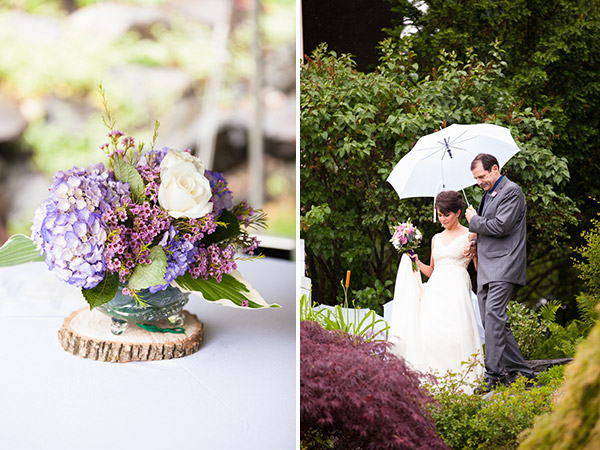 real wedding, wedding photography, wedding design, wedding styling, wedding inspiration, DIY wedding, wedding flowers, rainy wedding day, wedding day umbrellas, two wedding dresses, first look, Melissa and Dan Photography (4)