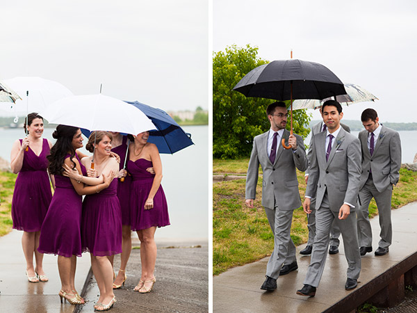 real wedding, wedding photography, wedding design, wedding styling, wedding inspiration, DIY wedding, wedding flowers, rainy wedding day, wedding day umbrellas, two wedding dresses, first look, Melissa and Dan Photography (1)