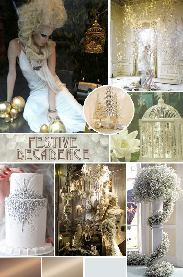 inspiration mood board, wedding mood board, party mood board, festive mood board, Christmas, gold and creams, decadence, elegant, sumptuous, The State of Grace