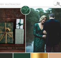 Merry Matrimony, Pocketful of Dreams, Wedding Planner, Amara Partner, Christmas Wedding, Winter Wedding, Emerald, Gold